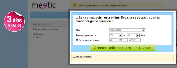 oferta meetic gratis