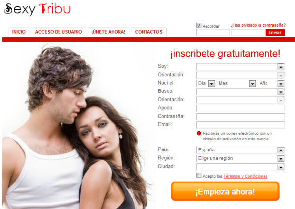 Contactos para ligar por internet en Sexy Tribu