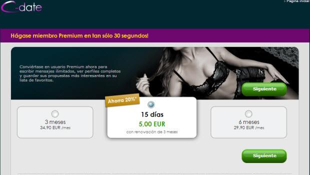 C-Date Premium: utiliza todas las funciones por sólo 5 euros
