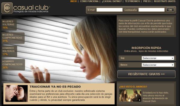 Contactos infieles en Casual Club