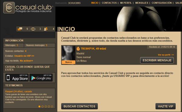 Relaciones extraconyugales en Casual Club
