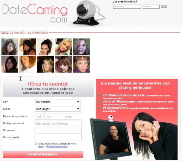 videconferencia con datecaming