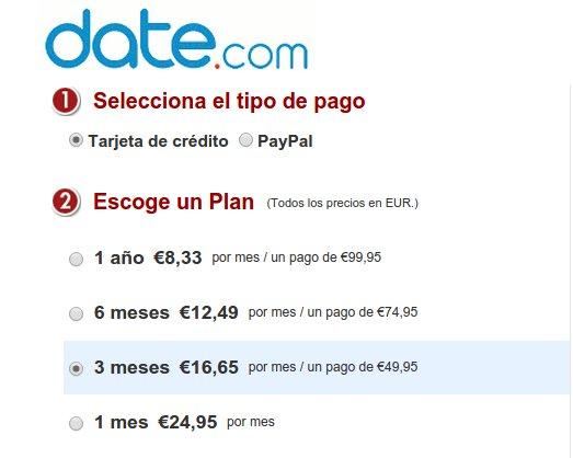 Date.com precios