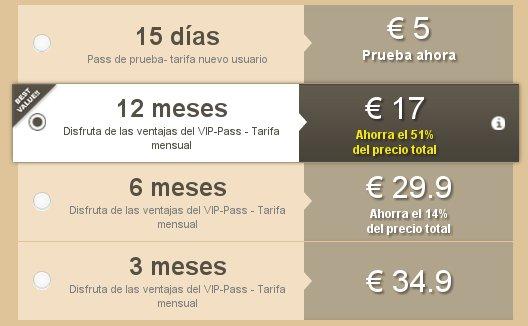 Casualclub precios 2015