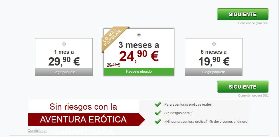 sitio de citas comparación de precios