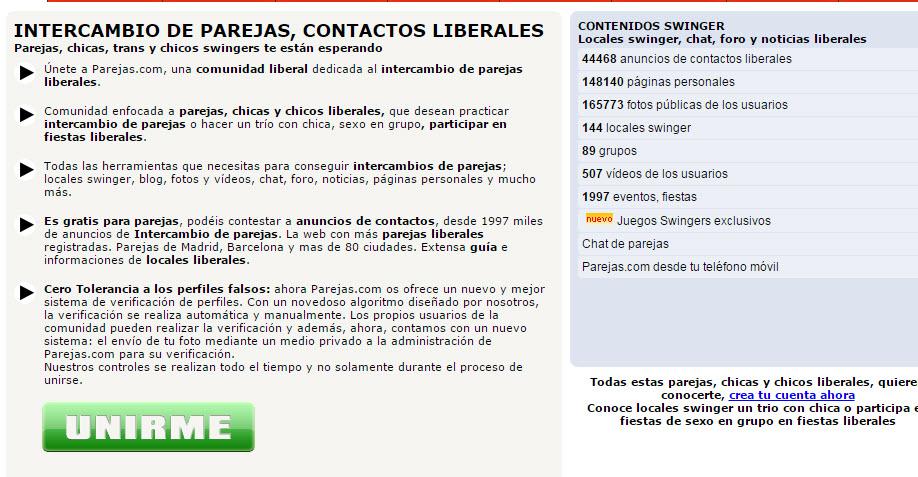 intercambios liberales España